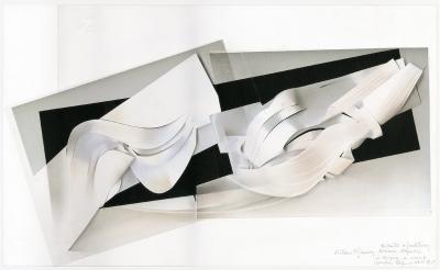 Bozzetto per scultura «Linee sonore» - 1990