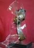 Volto di donna - Acrilico e bronzo 50x50x65 - 1982