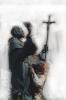 Padre Pio - Vieste :: L'artista al lavoro di rifinitura